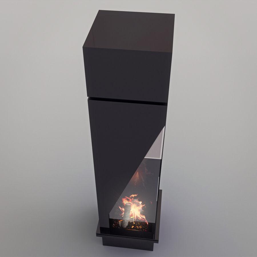 Chimenea moderna royalty-free modelo 3d - Preview no. 11