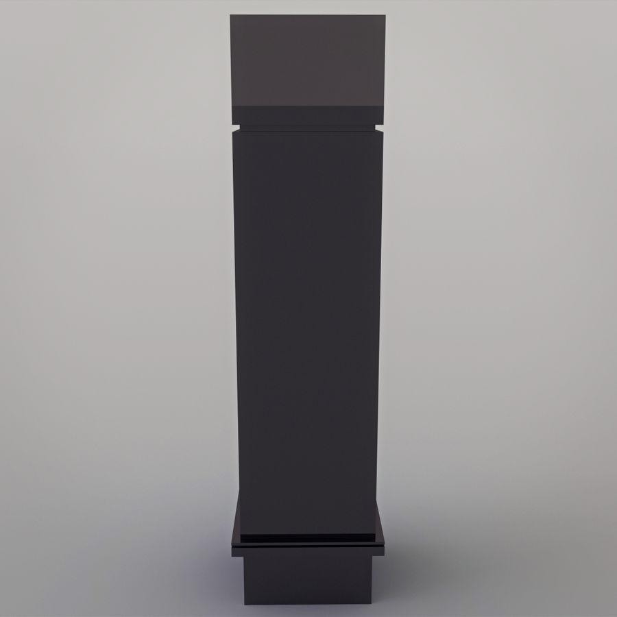 Chimenea moderna royalty-free modelo 3d - Preview no. 12