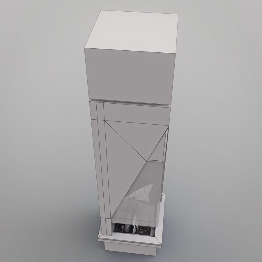 Chimenea moderna royalty-free modelo 3d - Preview no. 15