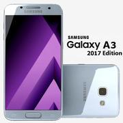 Samsung Galaxy A3 2017 Blue Mist 3d model