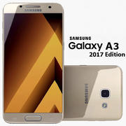 Samsung Galaxy A3 2017 Altın Kum 3d model