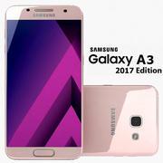 Samsung Galaxy A3 2017 Peach Cloud 3d model