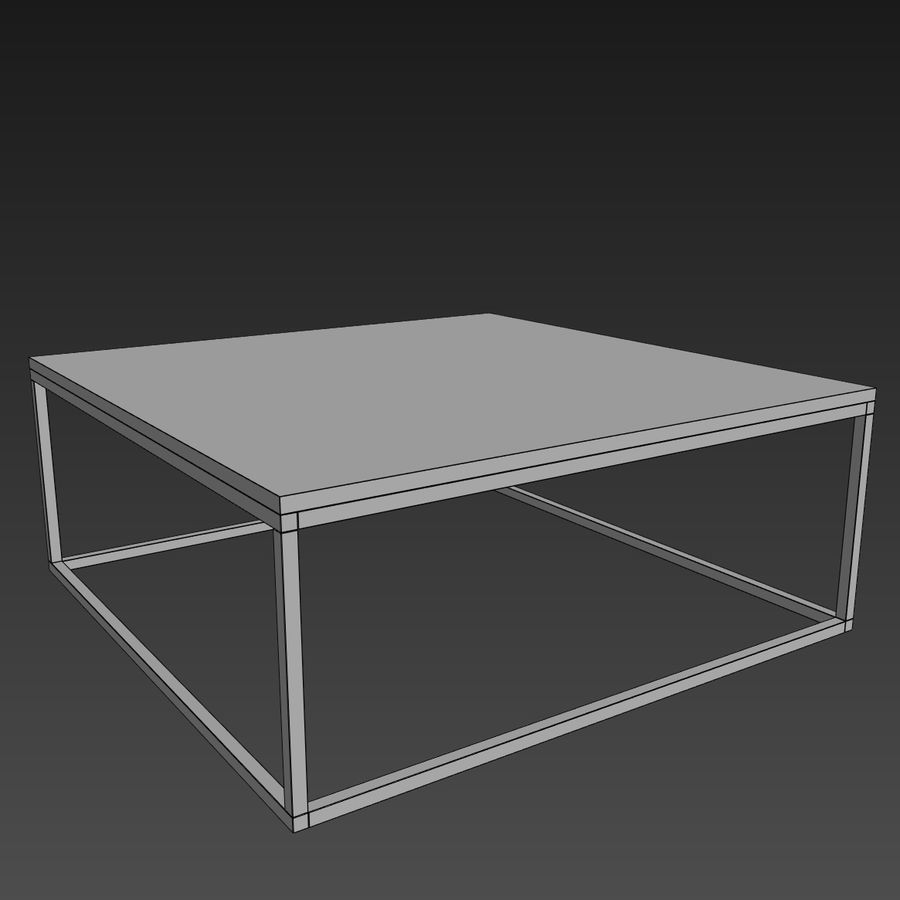 Gilmore marmeren salontafel royalty-free 3d model - Preview no. 5
