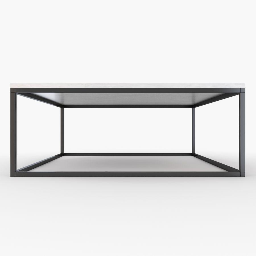 Gilmore marmeren salontafel royalty-free 3d model - Preview no. 2