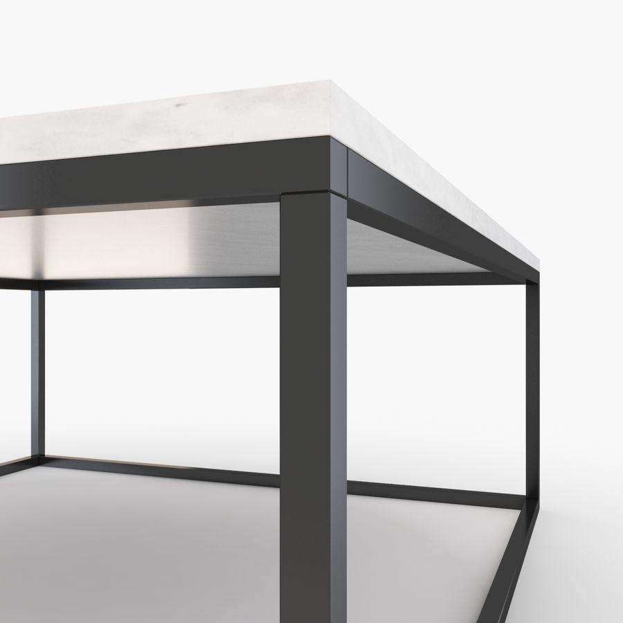 Gilmore marmeren salontafel royalty-free 3d model - Preview no. 3