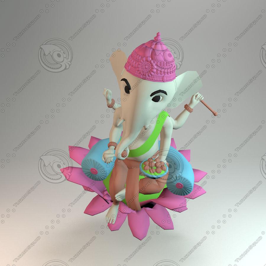 Ganesha royalty-free 3d model - Preview no. 3
