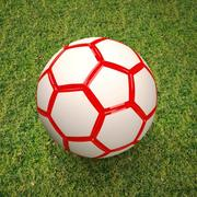 soccer  ball  red 3d model