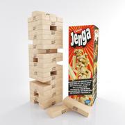 Jenga-spel 3d model