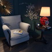 Vintage fauteuil en decor set 3d model