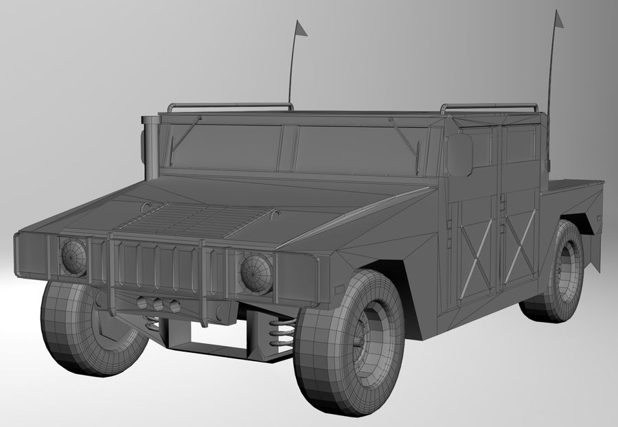 Humvee military royalty-free 3d model - Preview no. 14