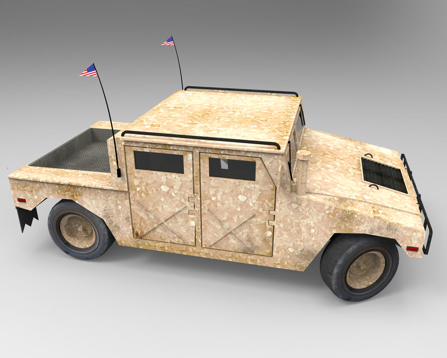 Humvee military royalty-free 3d model - Preview no. 4
