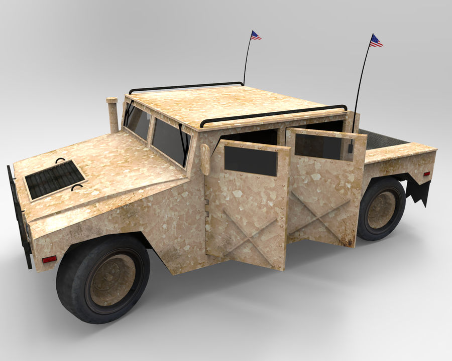 Humvee military royalty-free 3d model - Preview no. 2