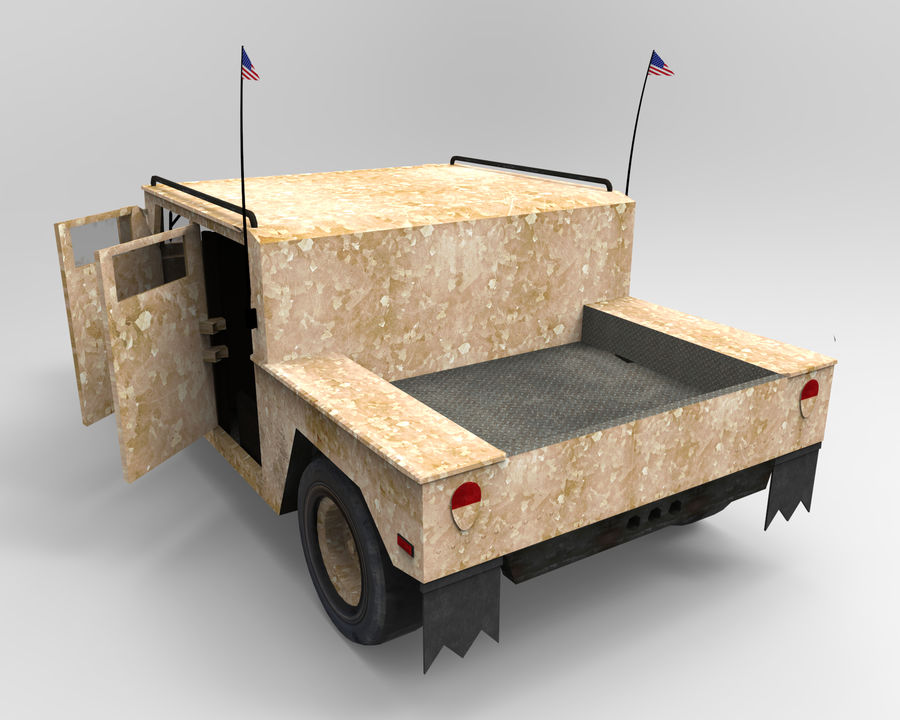 Humvee military royalty-free 3d model - Preview no. 3