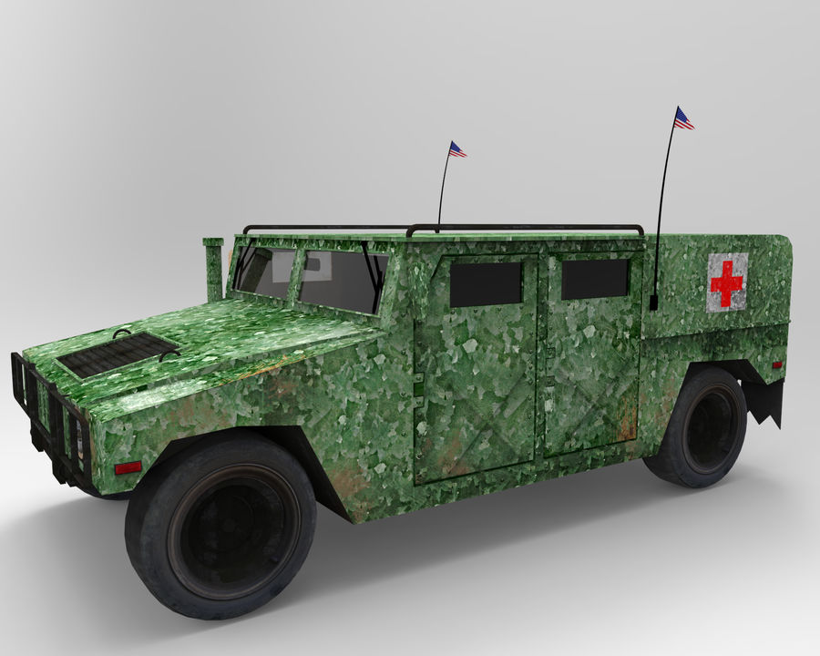 Humvee military royalty-free 3d model - Preview no. 10