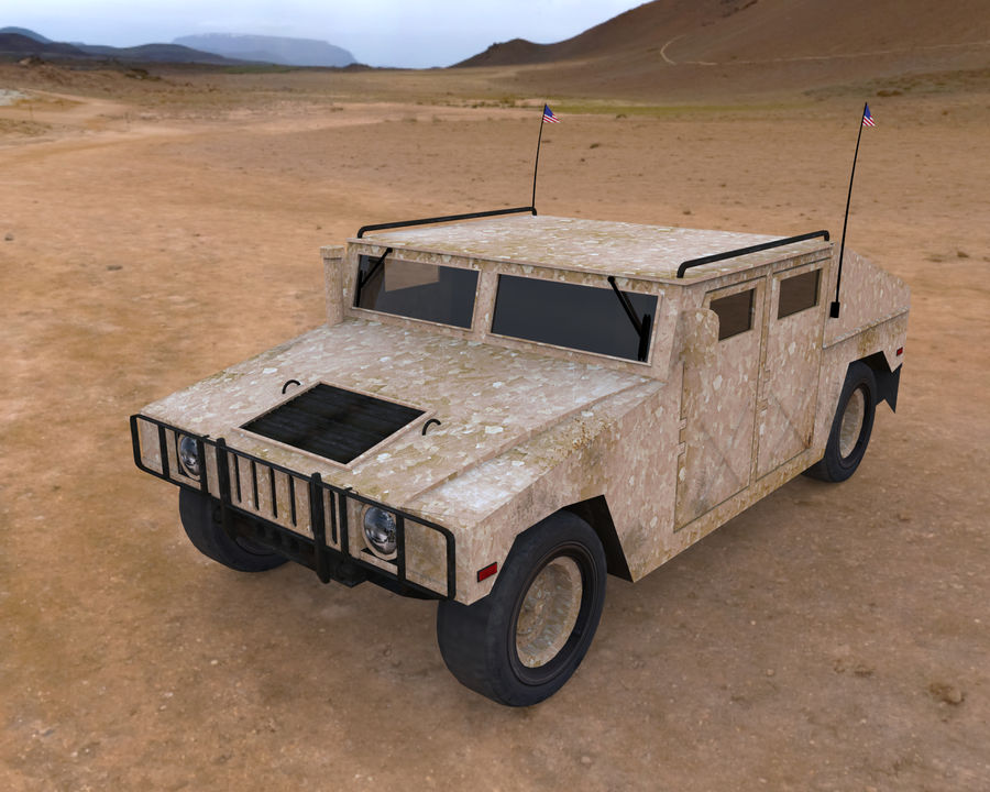 Humvee military royalty-free 3d model - Preview no. 11