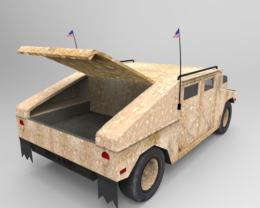 Humvee military royalty-free 3d model - Preview no. 6