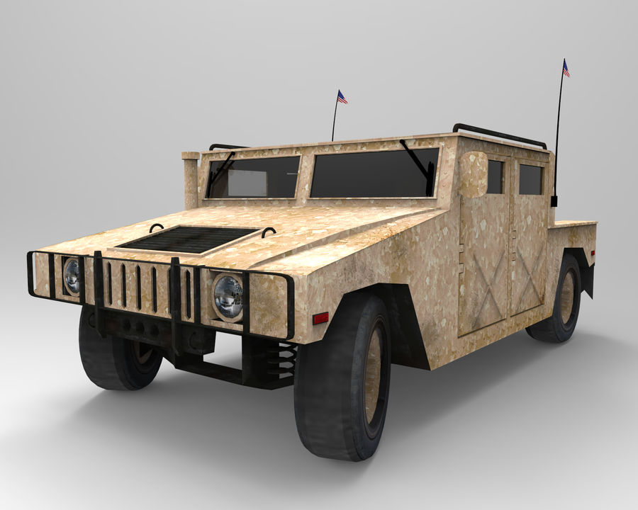 Humvee military royalty-free 3d model - Preview no. 1