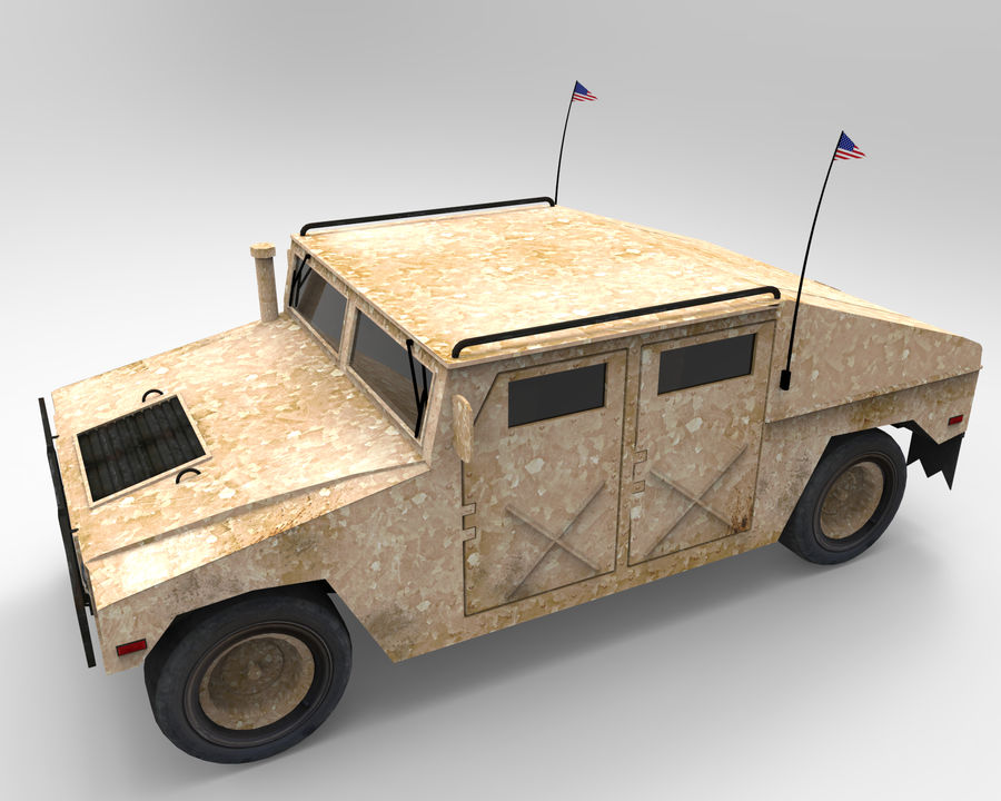 Humvee military royalty-free 3d model - Preview no. 5