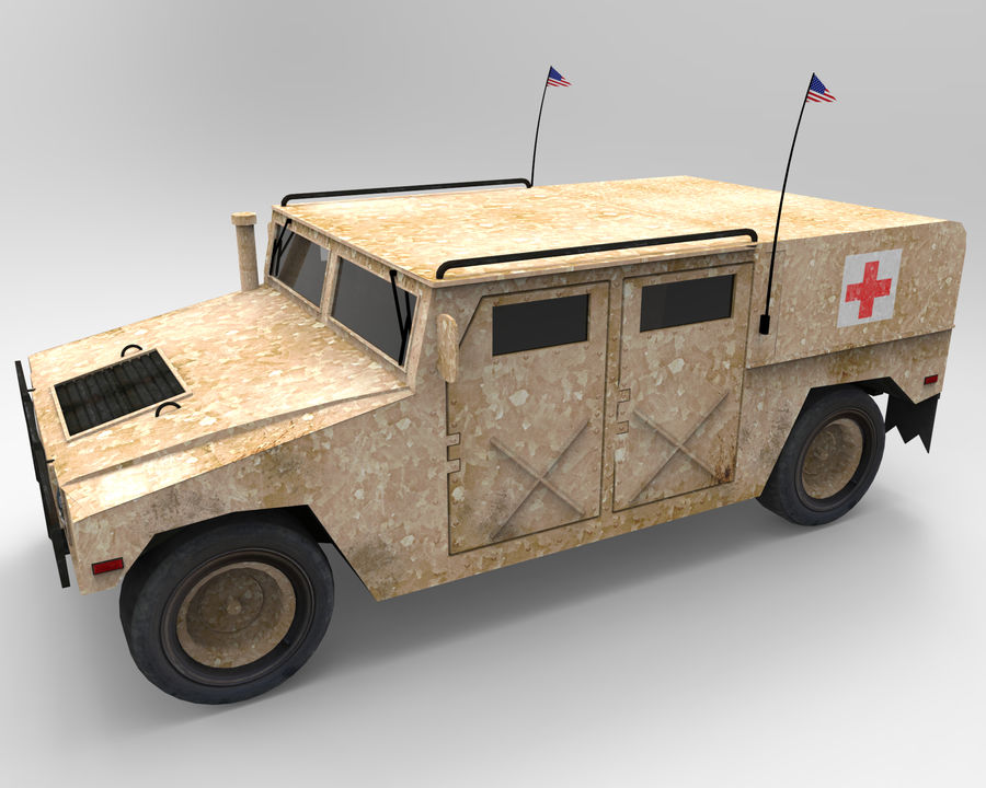 Humvee military royalty-free 3d model - Preview no. 7