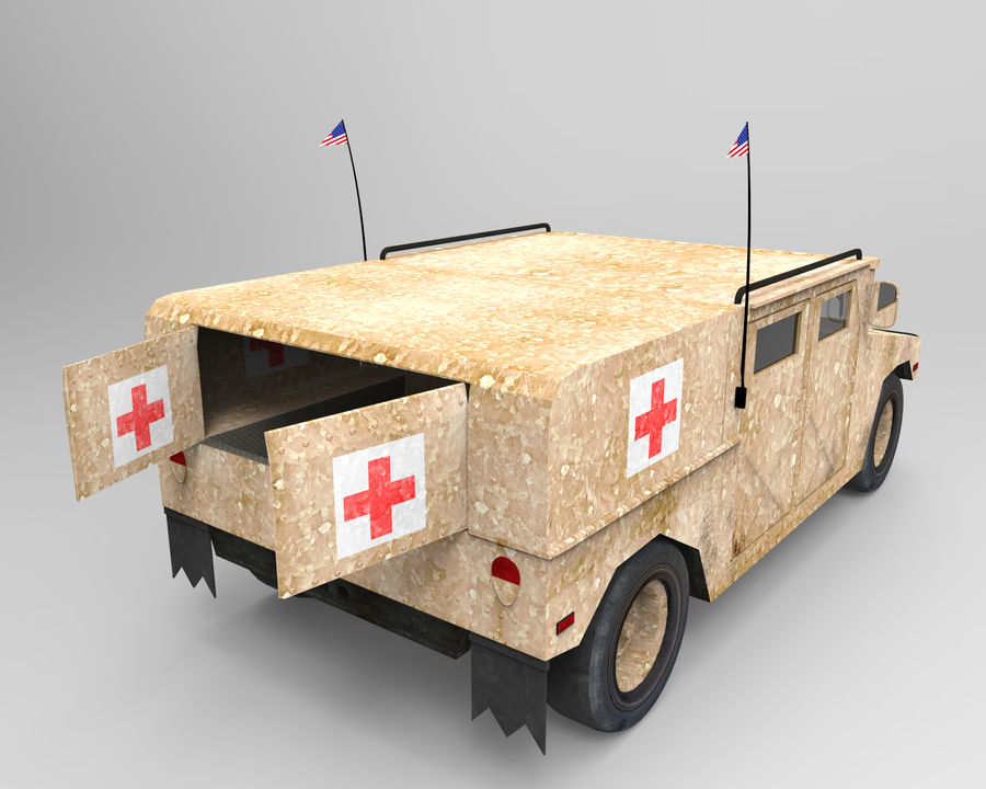 Humvee military royalty-free 3d model - Preview no. 8