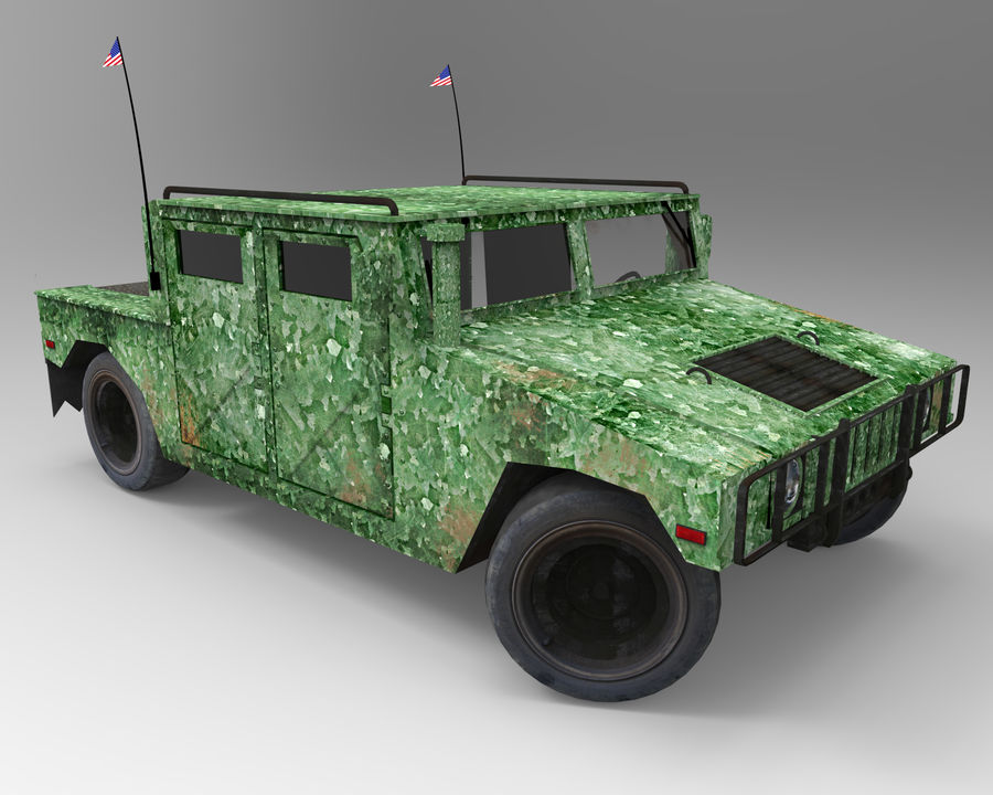 Humvee military royalty-free 3d model - Preview no. 9