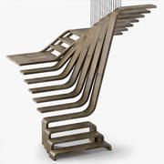 Stairs_wood 3d model