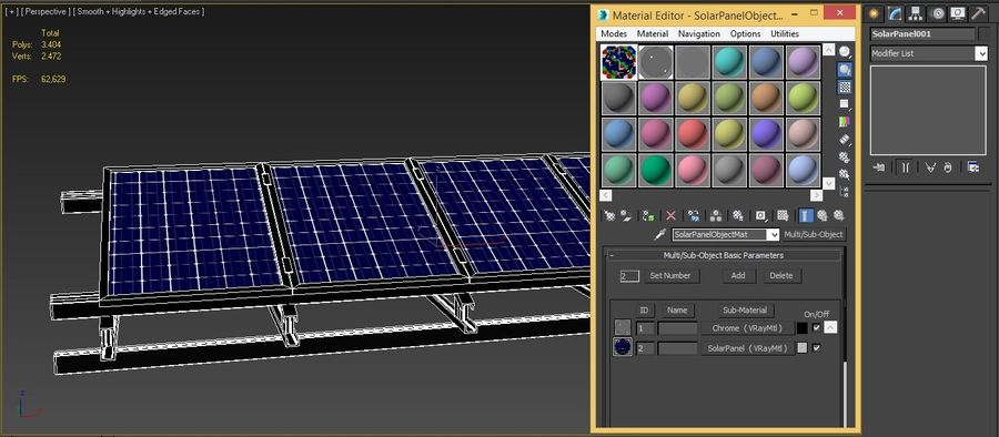 Solar Panel royalty-free 3d model - Preview no. 6