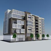 Modern Apartment City Building - HD Cityscape Tile 8 3d model