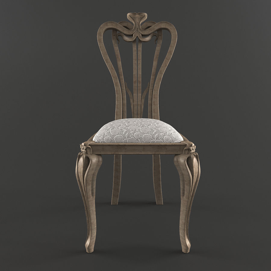 Chair classic royalty-free 3d model - Preview no. 4