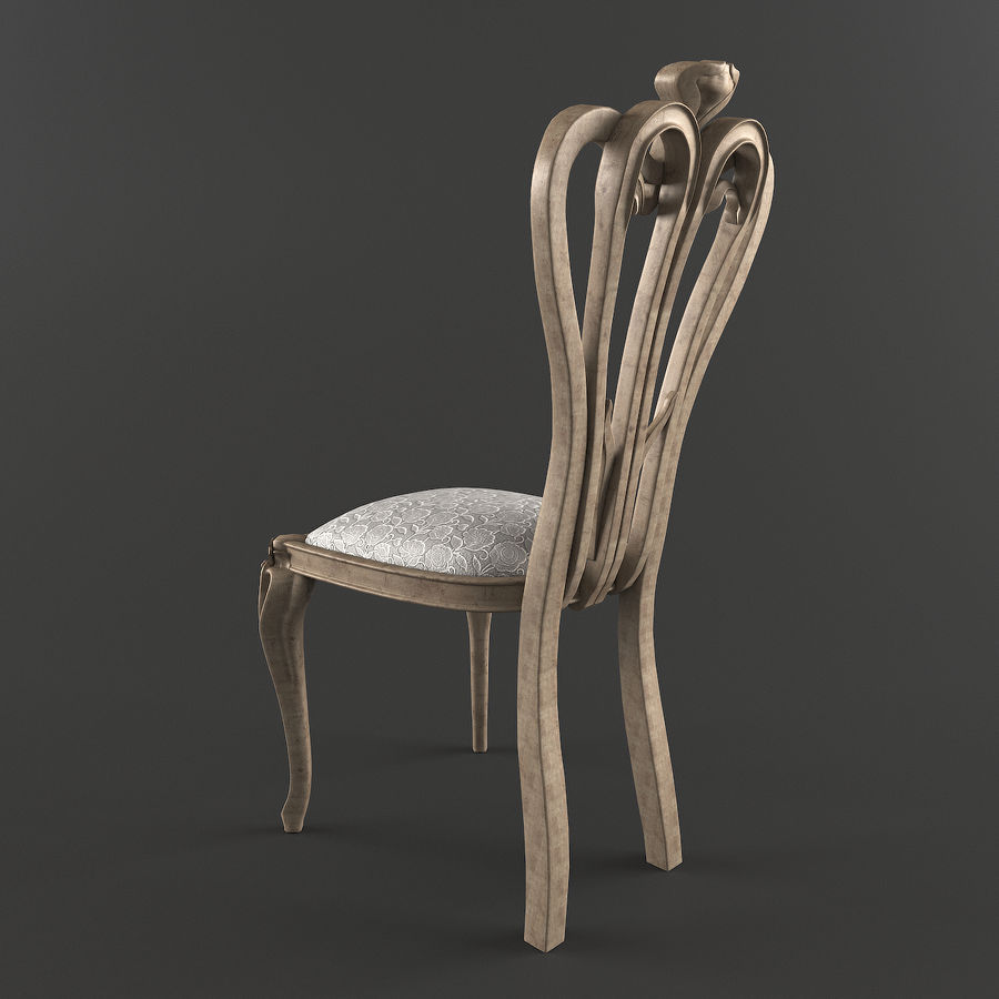 Chair classic royalty-free 3d model - Preview no. 3