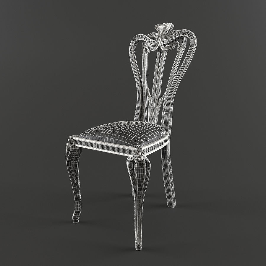 Chair classic royalty-free 3d model - Preview no. 6