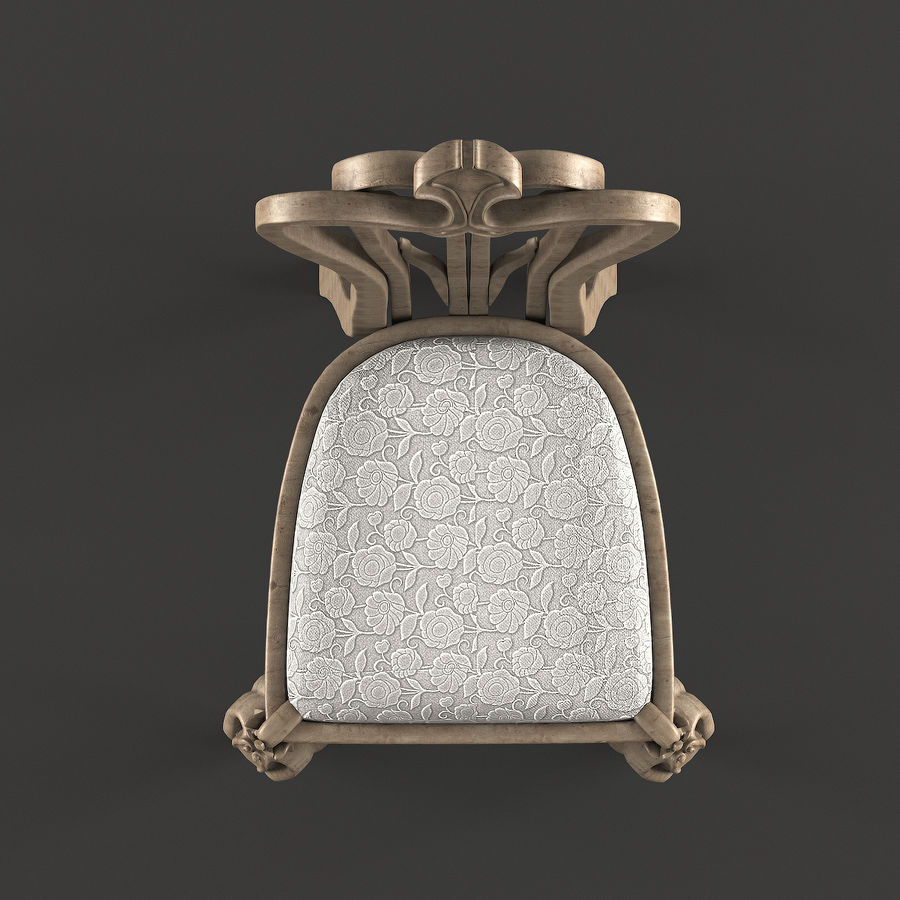 Chair classic royalty-free 3d model - Preview no. 5