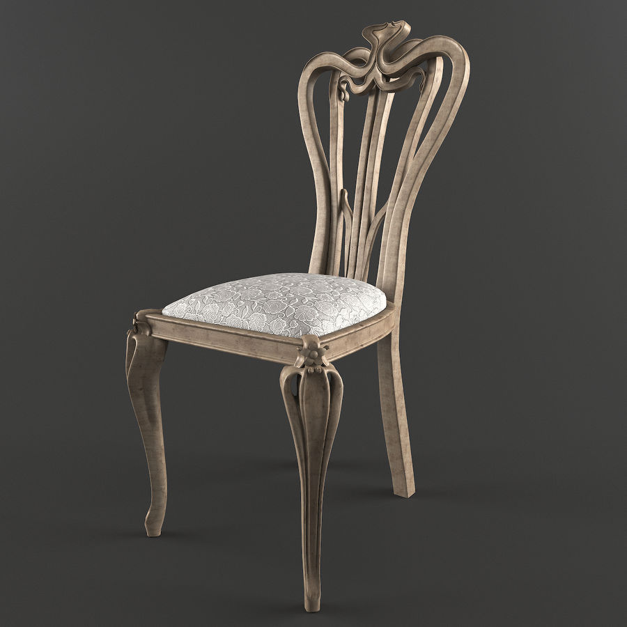 Chair classic royalty-free 3d model - Preview no. 2