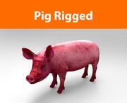 cerdo amañado modelo 3d