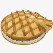 Домашний яблочный пирог 3d model