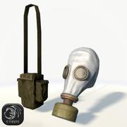 苏联防毒面具低聚 3d model