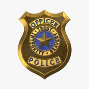 Distintivo di polizia 3d model
