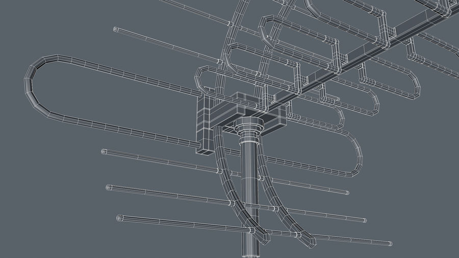 Antenna royalty-free 3d model - Preview no. 8
