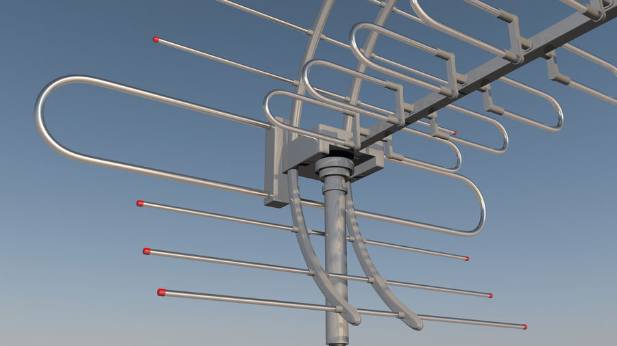 Antenna royalty-free 3d model - Preview no. 5
