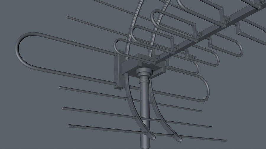 Antenna royalty-free 3d model - Preview no. 7