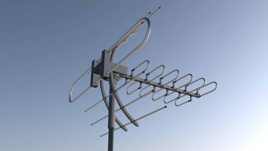 Antenna royalty-free 3d model - Preview no. 4