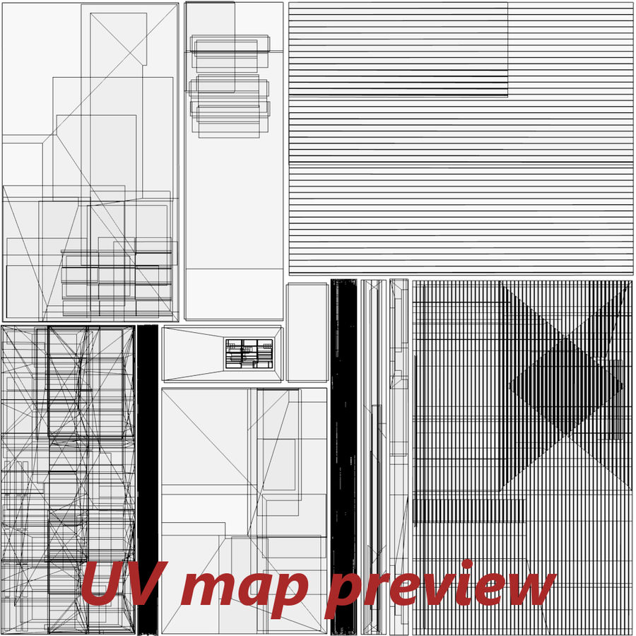 인테리어 하우스 5 royalty-free 3d model - Preview no. 26