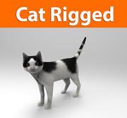 猫のリグ付き(1) 3d model