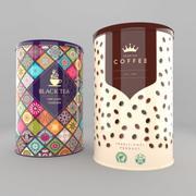Te- och kaffeburkar 3d model