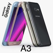 Samsung Galaxy A3 2017 3d model