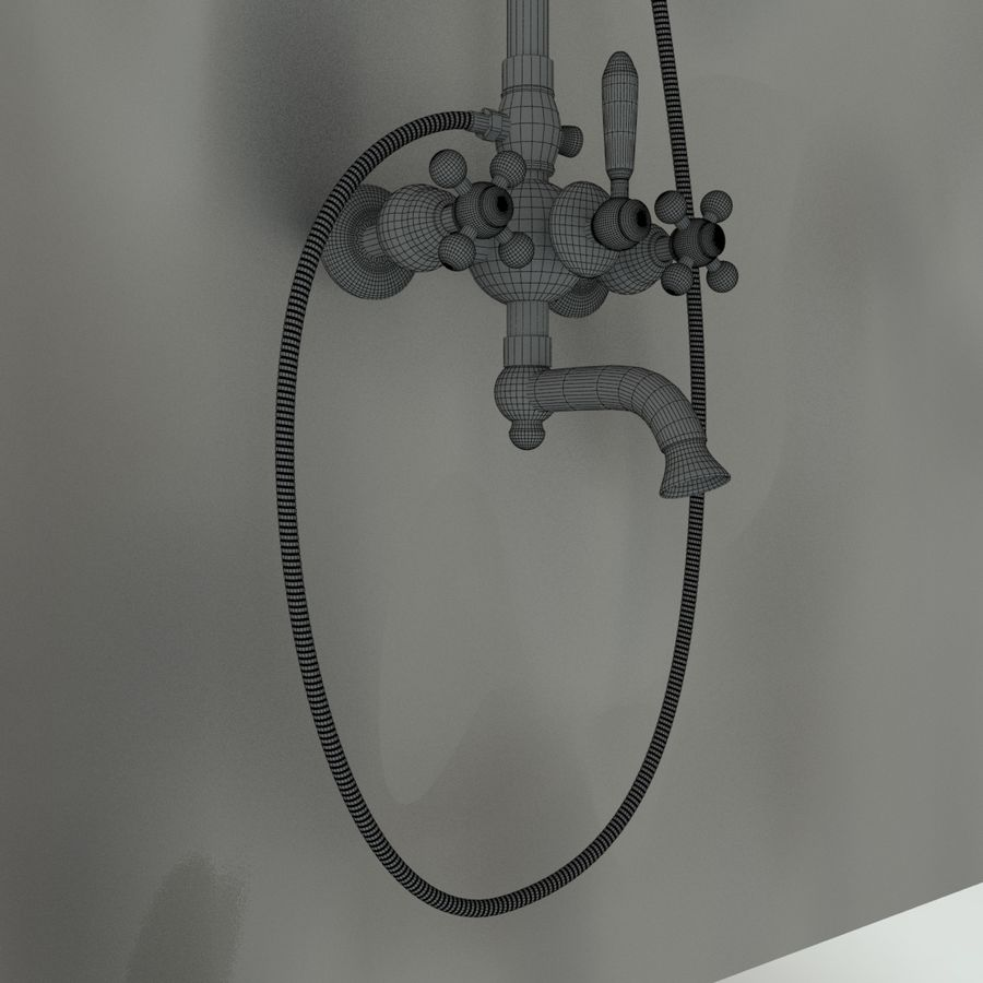 Duş başlığı royalty-free 3d model - Preview no. 8