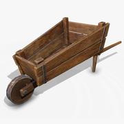独轮车(PBR) 3d model