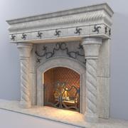 Camino in pietra 3d model