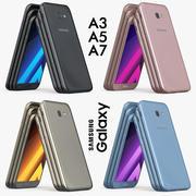 Samsung Galaxy A3 A5 A7 2017 3d model