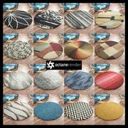 Round carpets for Octane render 3d model